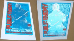 Public Enemy poster Chris Shaw - Blue Pearl variant silver reflection