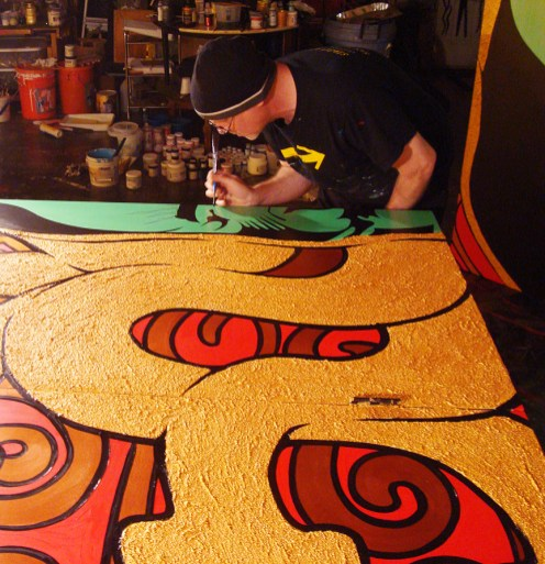Chuck Sperry in progress with the Right Gorgon