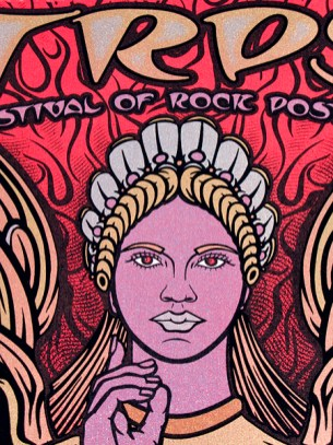 TRPS Festival of Rock Posters 2011 - Red Variant, Face detail