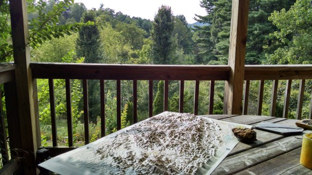 A view from a porch. I think I could camp out here easily.