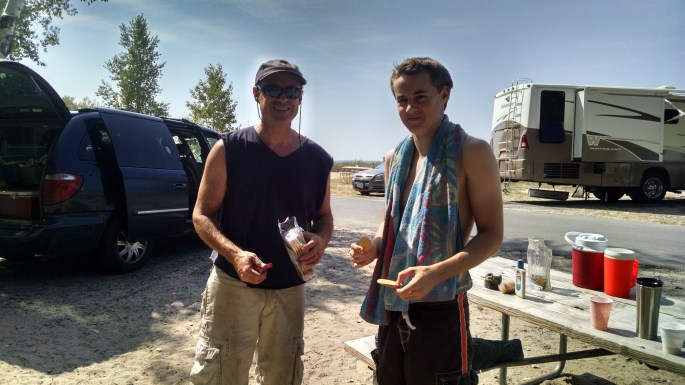 Hudi and Chris camping a week before his b-day