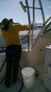 Jen cleaning