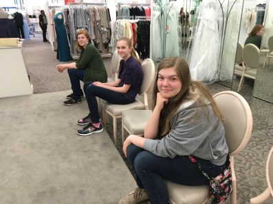 Shopping for a wedding gown with my future daughter-in-law and her family :)