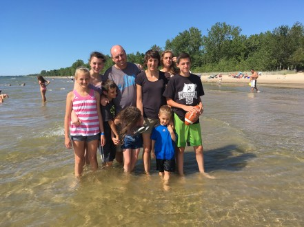 One of my best friends and her family came to visit me at my new home. They also stopped to see my favorite beach.