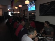 Dinner after WordCamp Toronto. Love this city and these people!