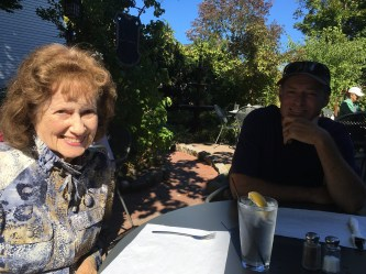 Celebrating Mom's birthday at the Tin Pan Galley in Sacketts Harbor