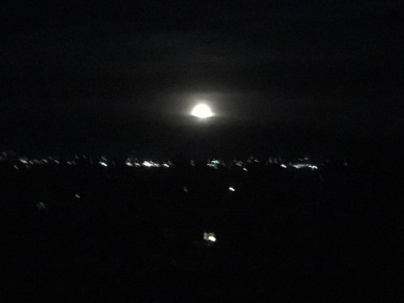 A beautiful moon for our last night in Utah