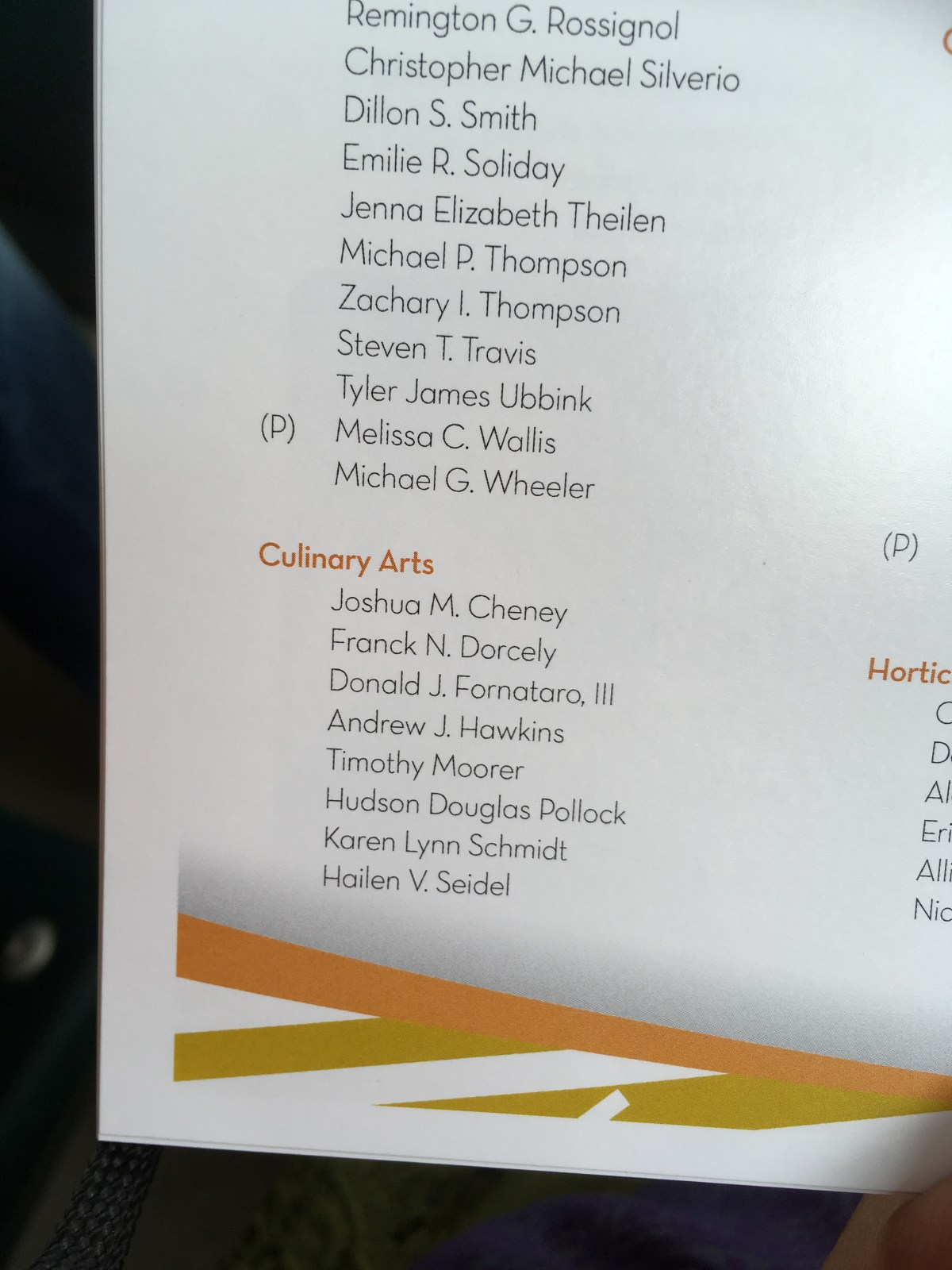 Name on Program
