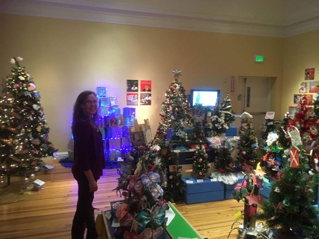 My favorite room - the ones with the trees from local daycare and child centers :)