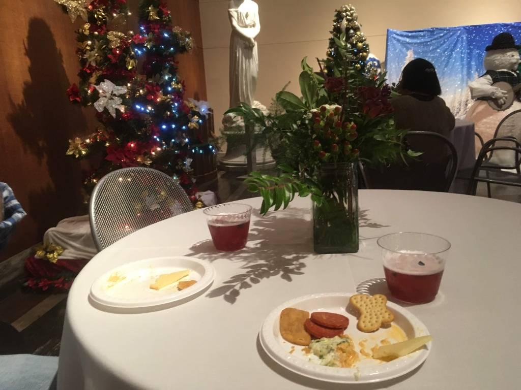 Holly Jollytini and snacks. So festive!