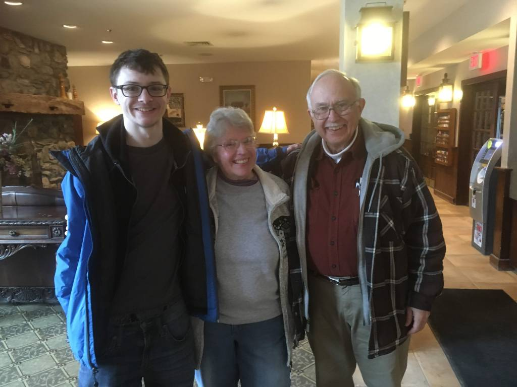 David, Aunt Anne and Uncle John