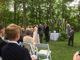Ashley and Spencer's wedding ceremony on June 8.