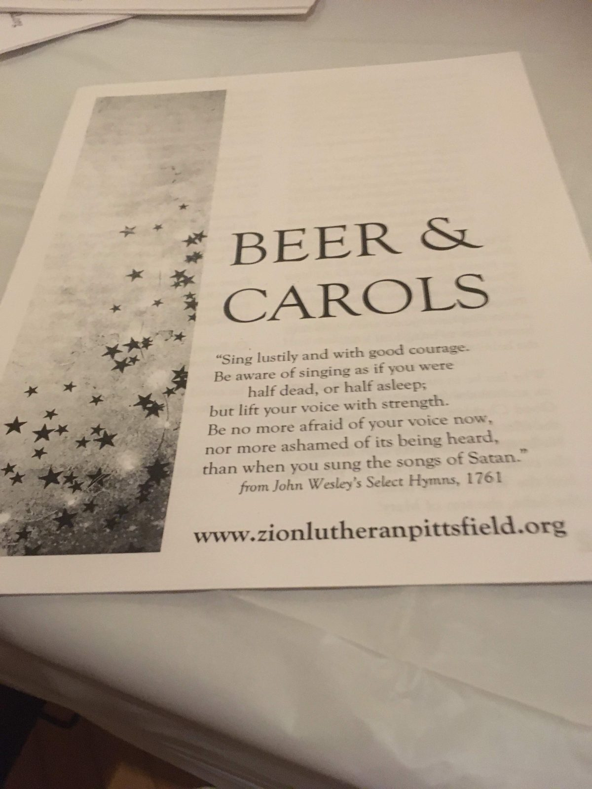 Beer and Carols -- Sing Lustily