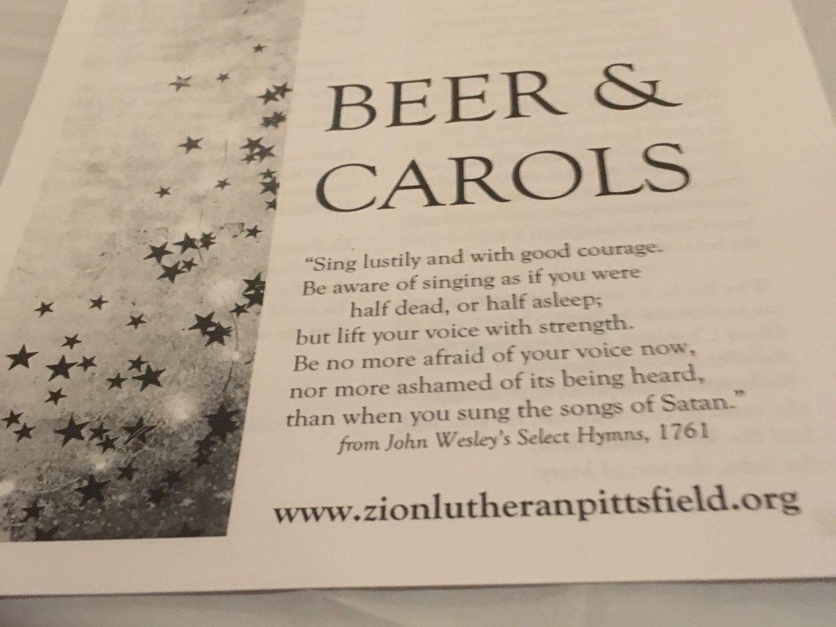 Beer and Carols -- Sing Lustily