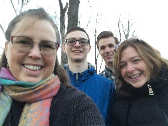 Family members at the creek.