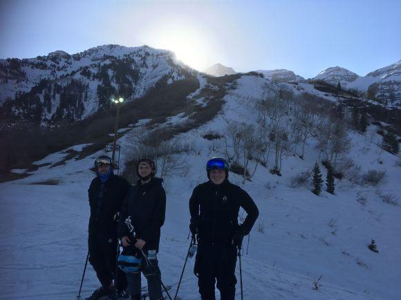 My boys at sunset at Sundance