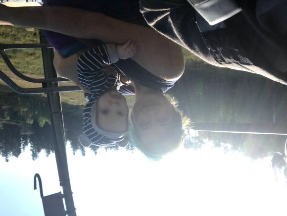 Bri and Shiloh on lift