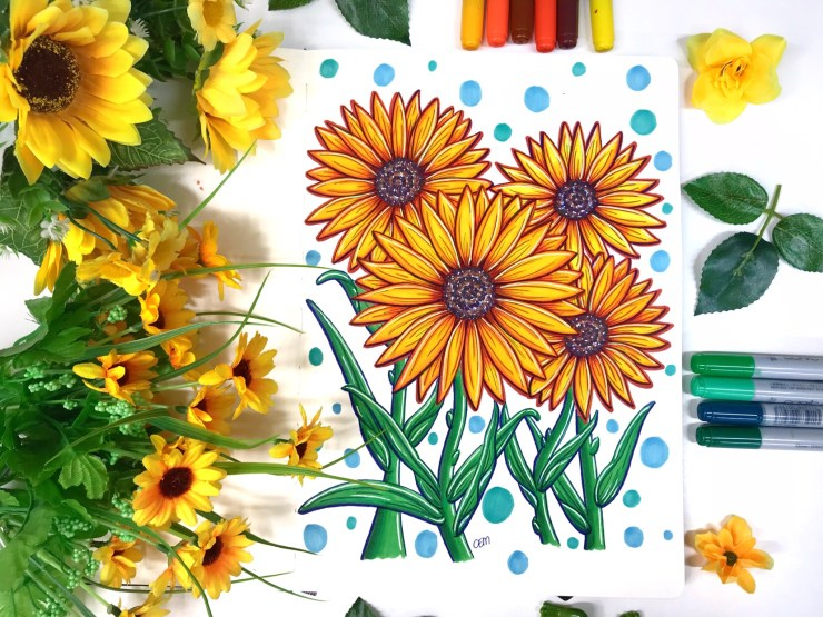Sunflowers-Chrissie-Murphy-Designs-ChrissieMurphyDesigns