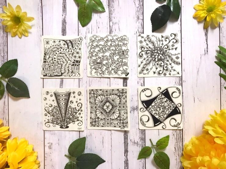 My zentangle tiles