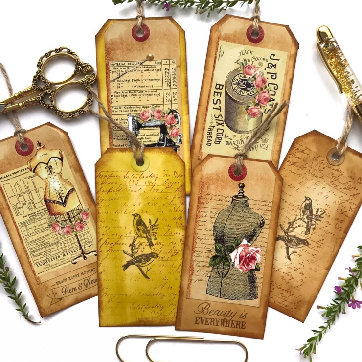 Papercraft journal tags