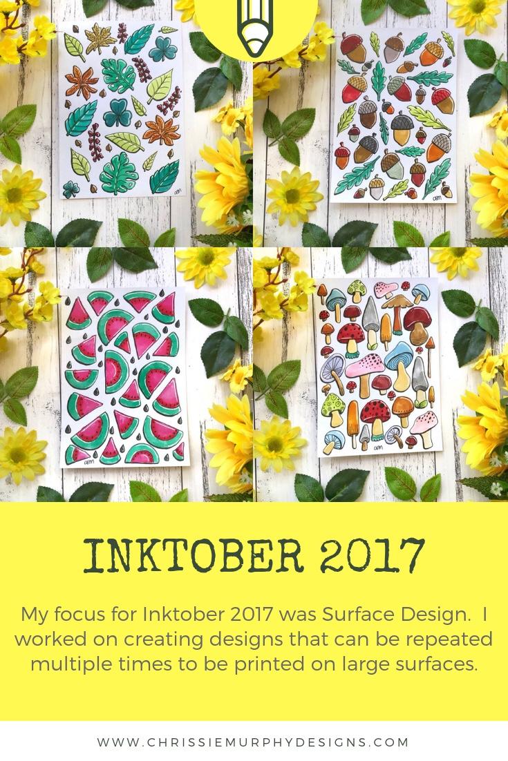 Inktober 2017 with Chrissie Murphy Designs