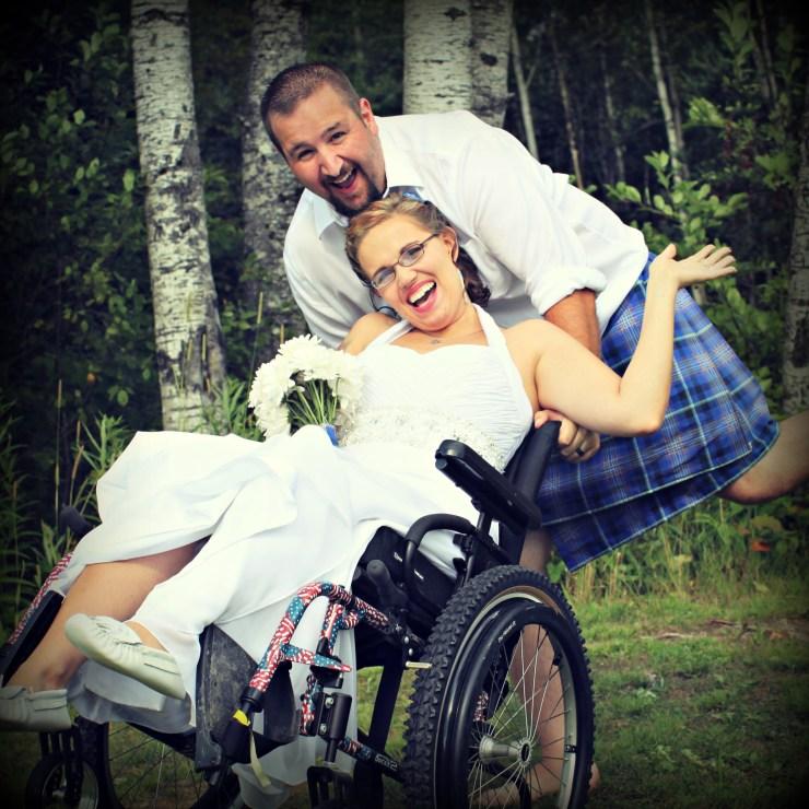 Shawna's wedding day