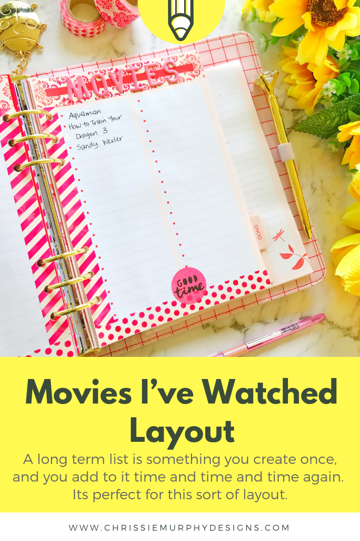 Movies I've Watched Layout for Plan With Me for March 2019
