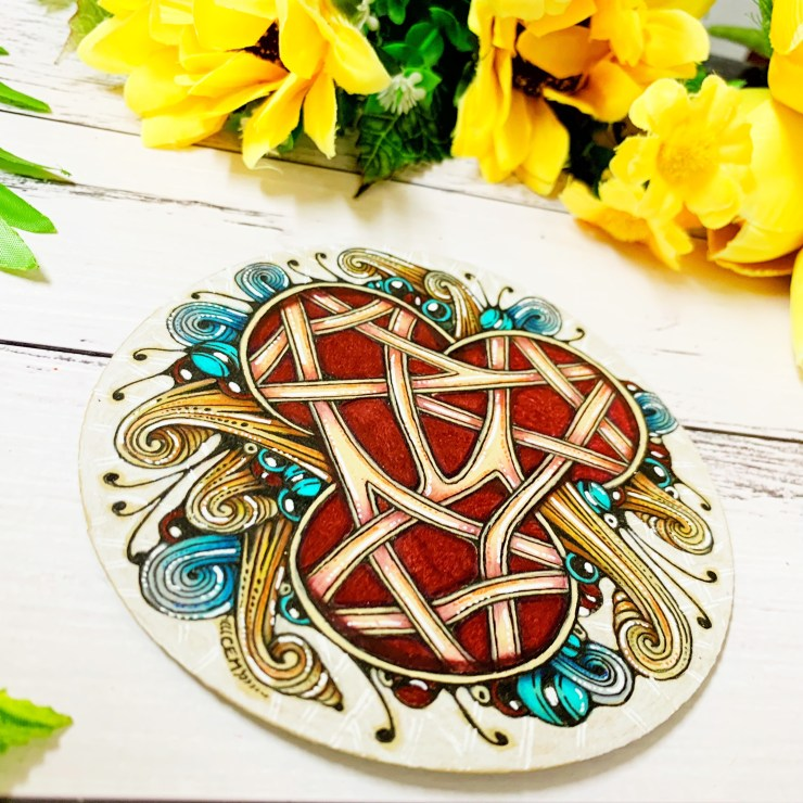 Tangled Trio of Tissoooh Zentangle Tile