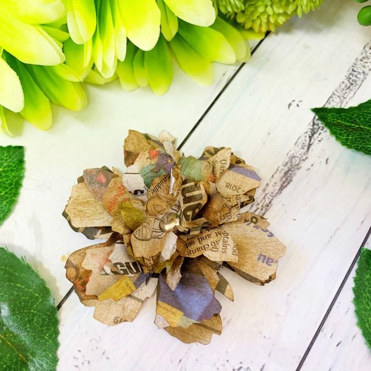 Tattered Floral Newspaper flower