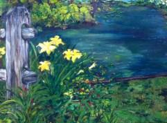 Lillies On Mill, 2011 (Oil on Linen)