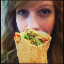 HUGE falafel wrap for £3 from a stall near work