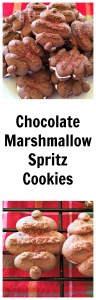 Chocolate Marshmallow Spritz Cookies