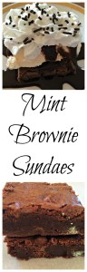 Mint Brownie Ice Cream Sundae Dessert