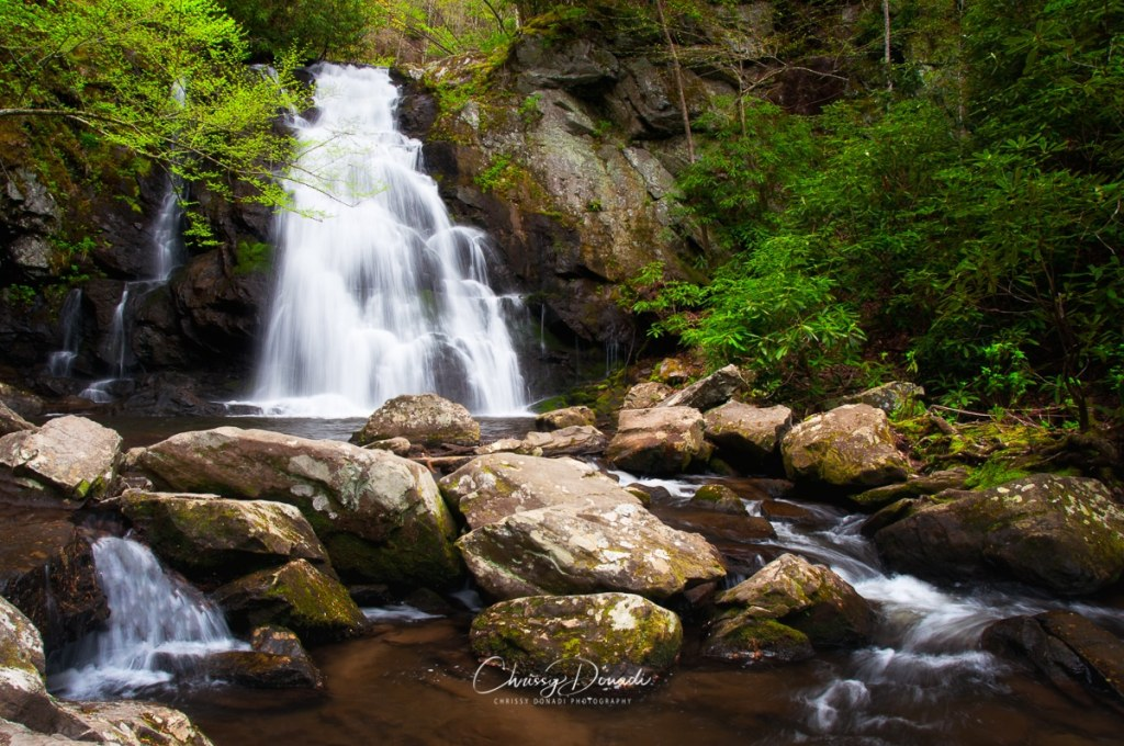 Springtime waterfall in Great Smoky Mountains National Park