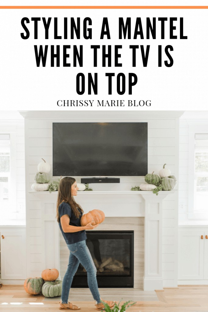 Mantel Decor With A Tv How To Pull It Off Chrissy Marie Blog