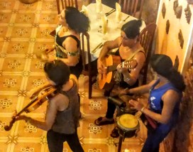 Live music in a restaurant in Trinidad