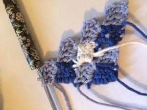 gingham crochet pillow