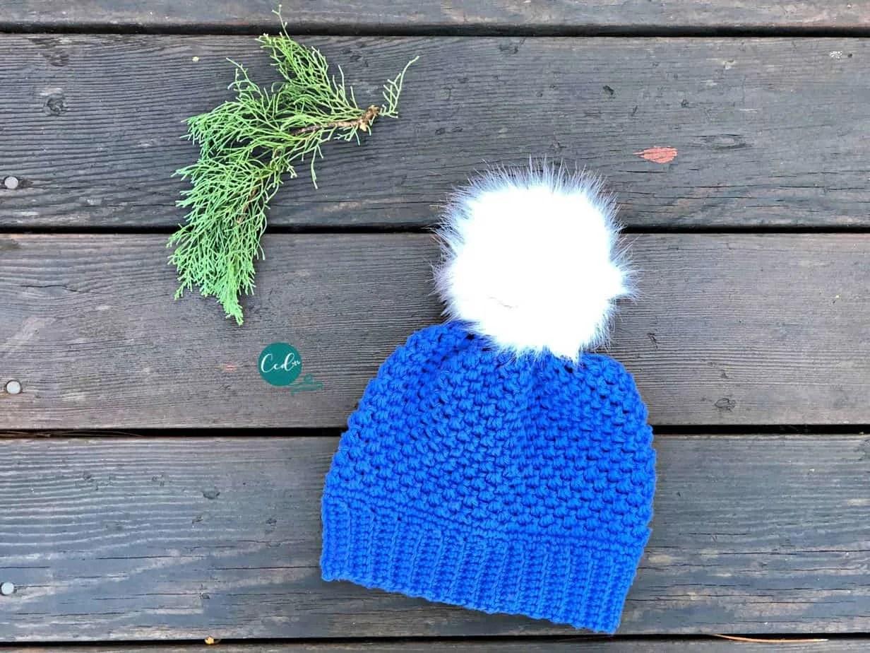 Child Size Winter Pom Free Crochet Hat Pattern