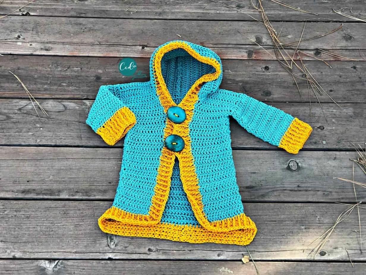 Free Crochet Toddler Hoodie Pattern