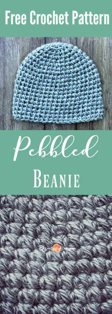 pebble beanie free crochet hat pattern