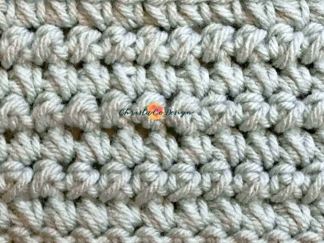 Mini Bean Stitch Crochet Video & Photo Tutorial