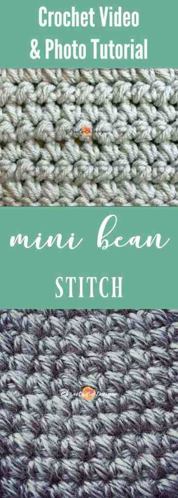 mini bean stitch tutorial