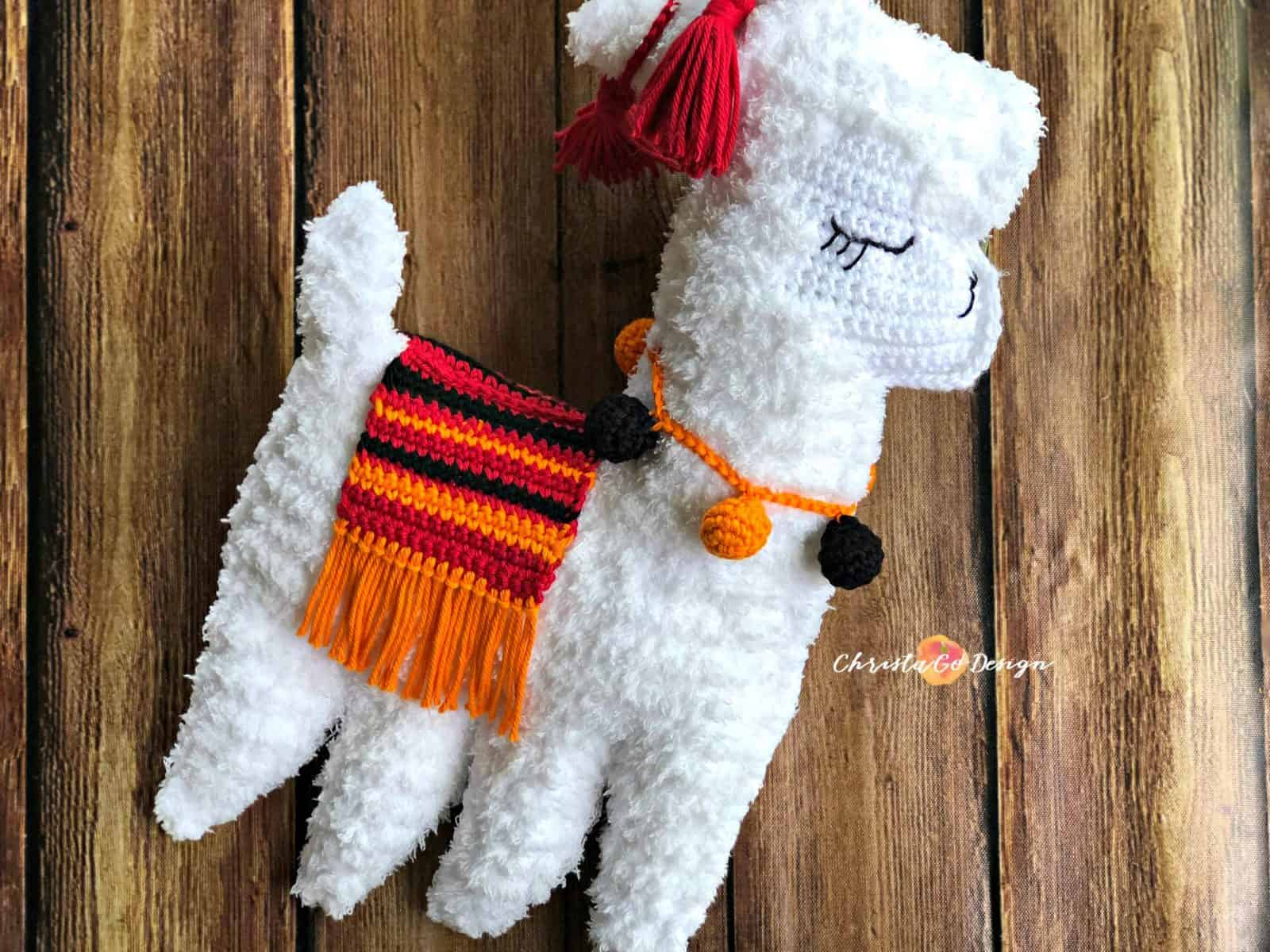 Crochet Llama Plus Tips for Crocheting with Fuzzy Yarn - ChristaCoDesign