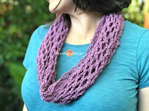 cotton lilac cowl