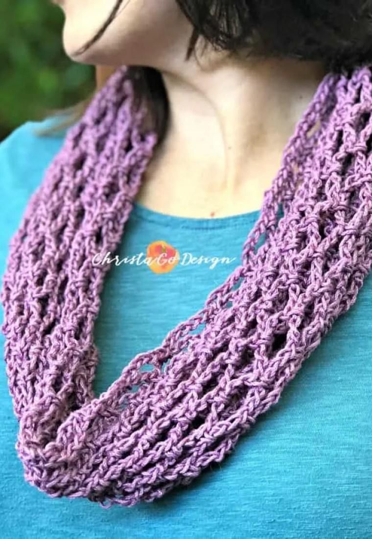 Archwork Cotton Crochet Cowl Free Pattern
