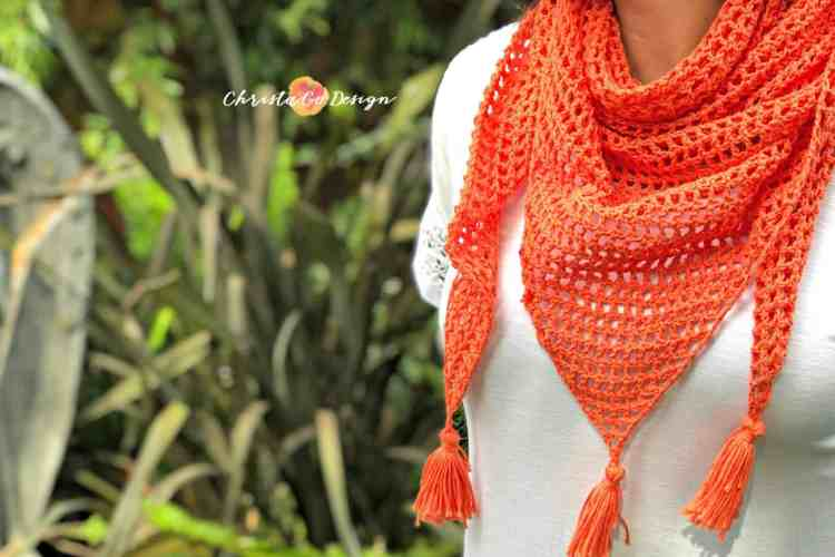 crochet triangle scarf free pattern