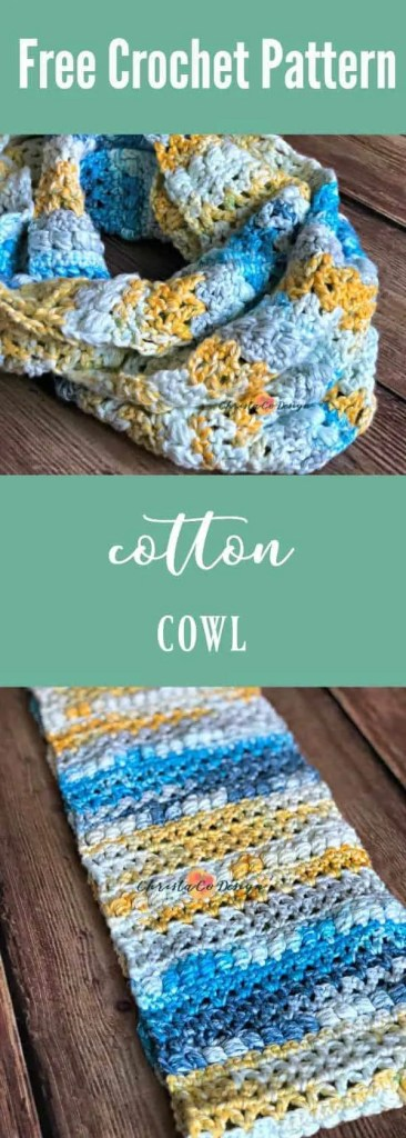 crochet cotton cowl pattern