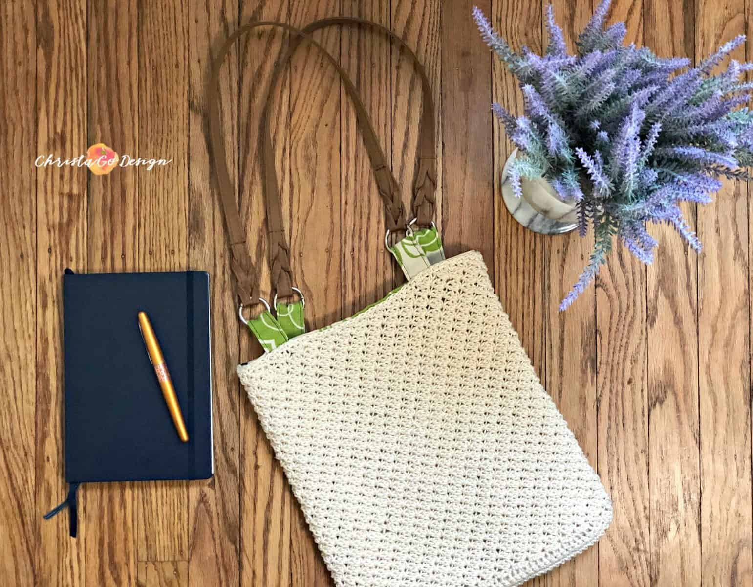 How to Line a Crochet Bag Photo Tutorial                         {& August's Make It Giveaway!}
