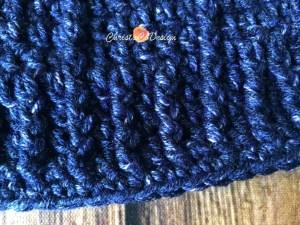 blue crochet hat