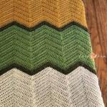 Crochet Chevron Baby Blanket Free Pattern Christacodesign